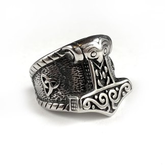 Thor's Hammer Stainless Steel Ring