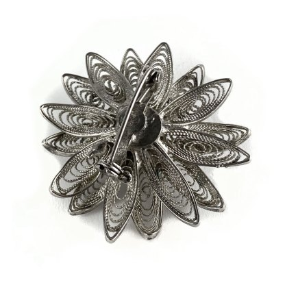 Victorian Scottish Flower Brooch