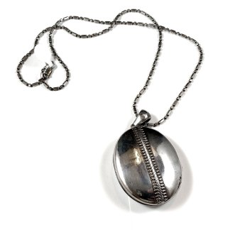 "Victorian Sterling ""Zipper"" Locket"