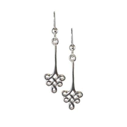 Celtic Floral Knot Sterling Earrings
