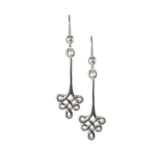 Celtic Floral Knot Sterling Earrings