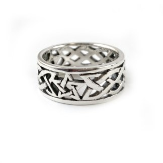 Celtic Knot Star Sterling Band