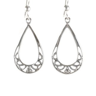 Celtic Pendant Knot Sterling Earrings