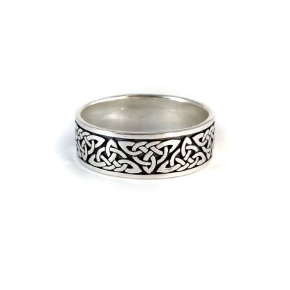 Celtic Trinity Knot Sterling Band