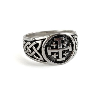 Jerusalem Cross Sterling Ring