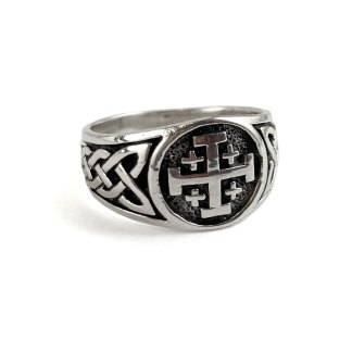 Jerusalem Cross Sterling Ring