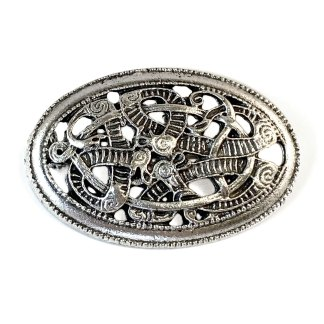 Pewter Celtic Knot Oval Brooch