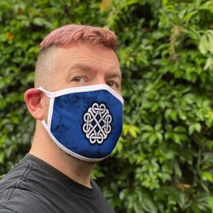 Blue Celtic Knot Face Mask