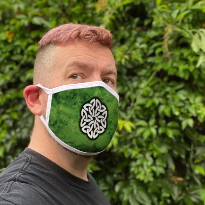 Green Celtic Knot Face Mask