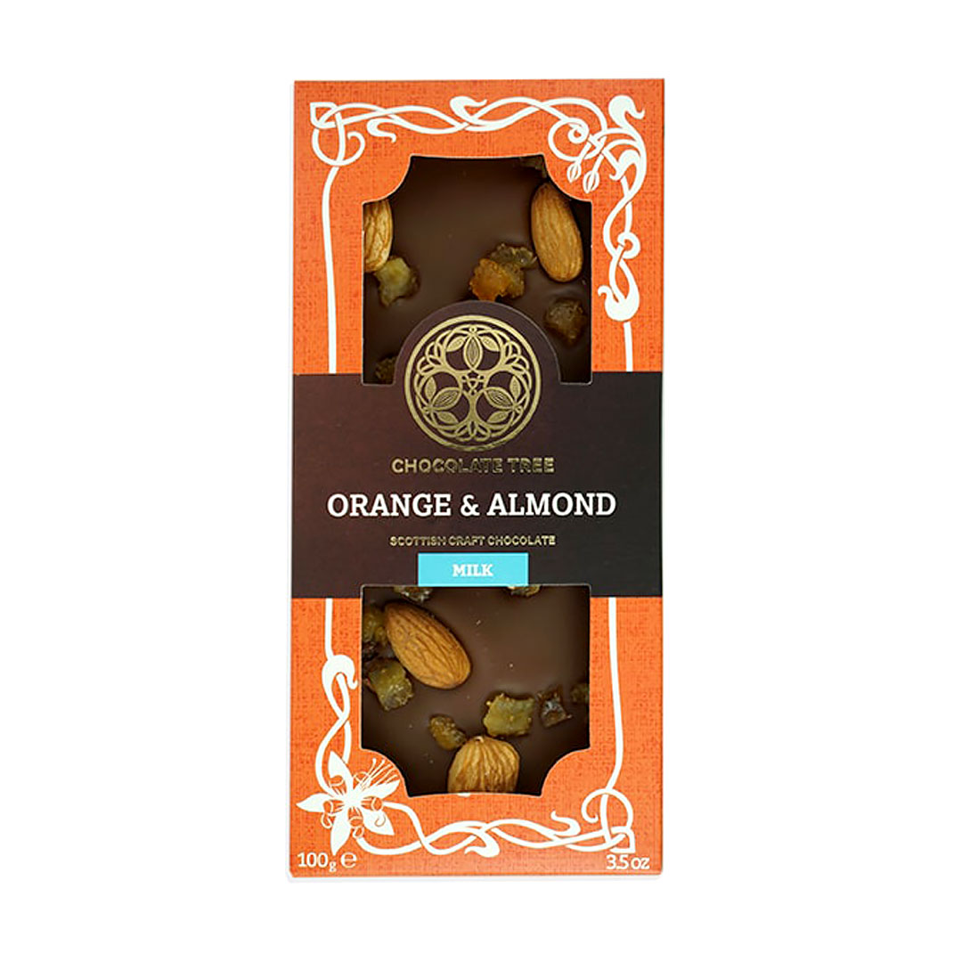 Orange & Almond Chocolate Bar