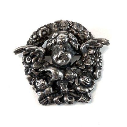 Sterling Cherub Pin