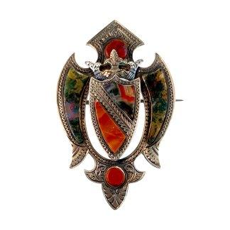 Agate Shield Kilt Pin