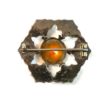 Six Star Agate Kilt Pin