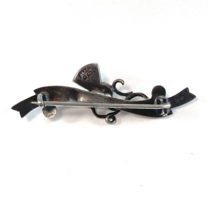 Bloodstone Thistle Bar Pin