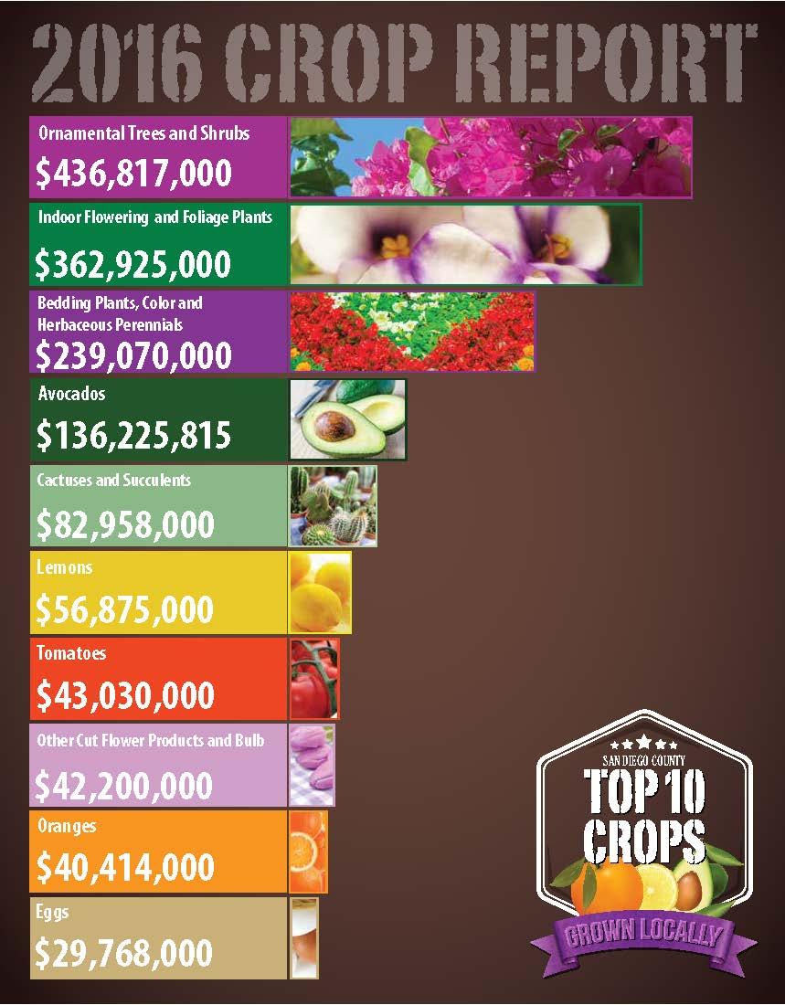 2016 Crop Report Top 10 Crops