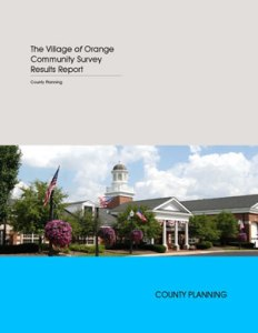 Cover of the Orange Community Survey