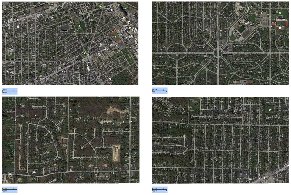 Examples of area street patterns