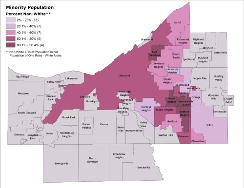 Map of minority populations