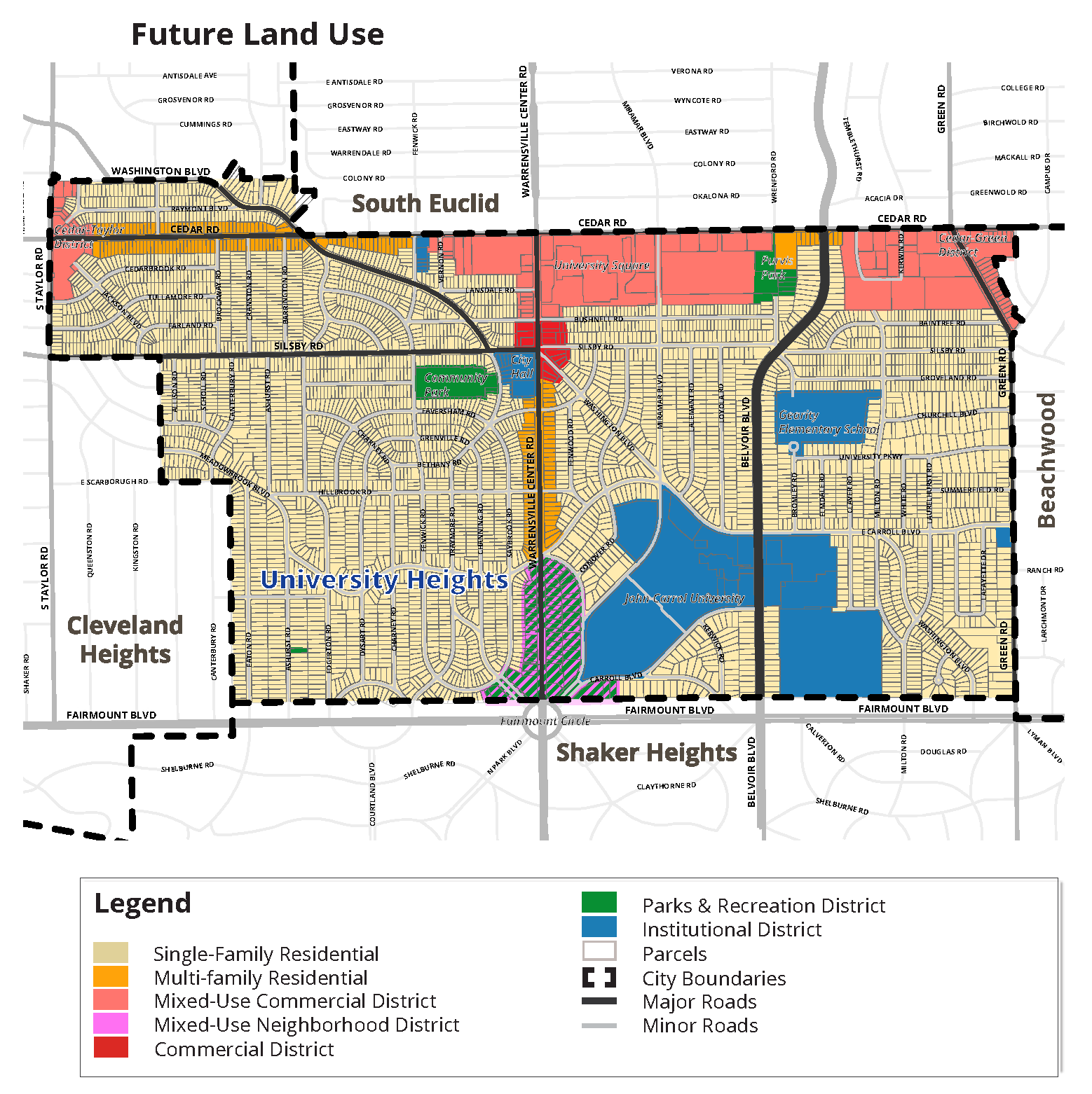 University Heights future land use map Cuyahoga County Planning