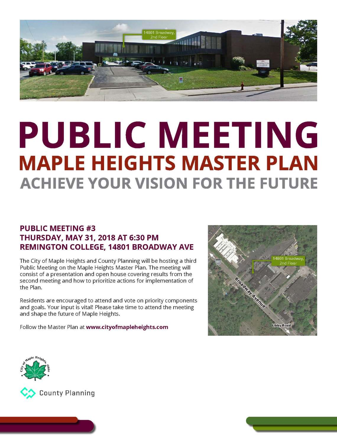 Maple Heights public meeting flyer