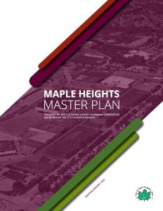 Cover of the Maple Heights Master Plan
