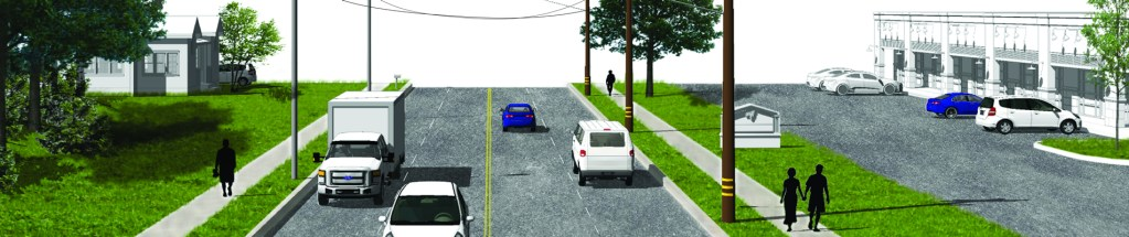 Center Ridge streetscape rendering
