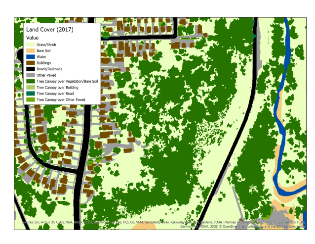 Land cover sample map