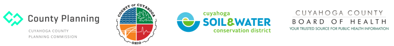 logos of the Cuyahoga County Planning Commission, Cuyahoga County, the Cuyahoga Soil & Water Conservation District, and the Cuyahoga County Board of Health