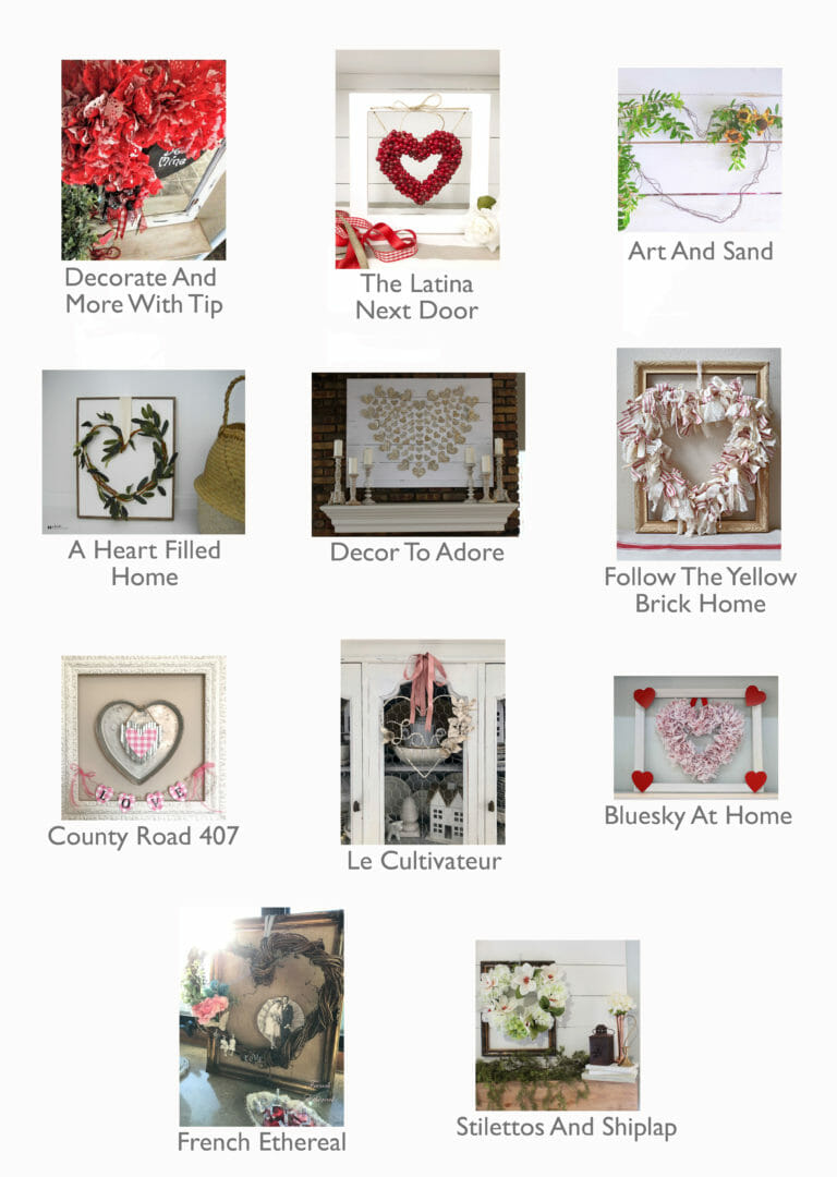 Collage DIY Dollar Tree Valentines Day Decor