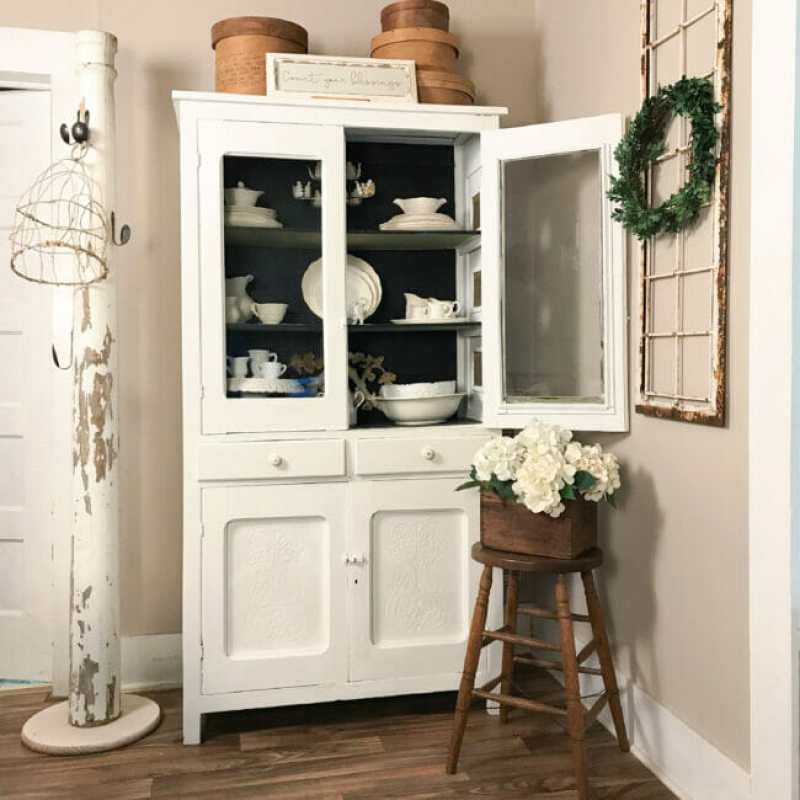 china hutch with stool and column