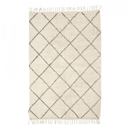 tapis blanc et damiers gris boheme 180x120 madeline reference cd tp56a