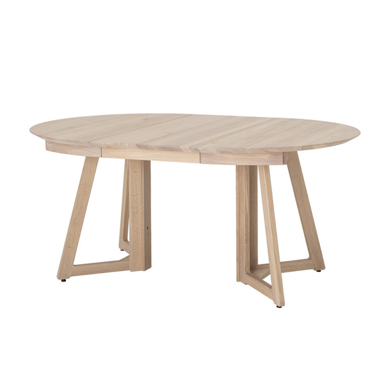 table ronde extensible en bois naturel bloomingville trysti reference cd t41c