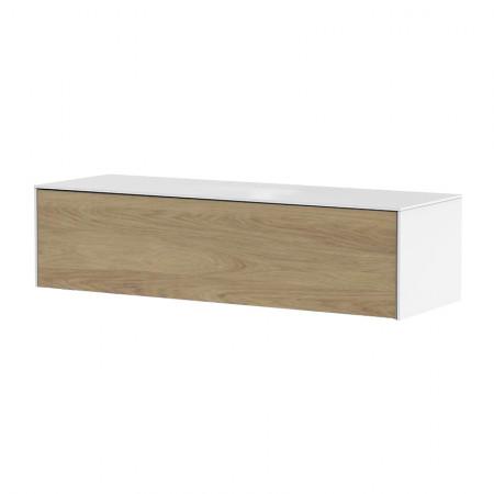 meuble tv suspendu blanc et bois nature reference cd tv67b 02
