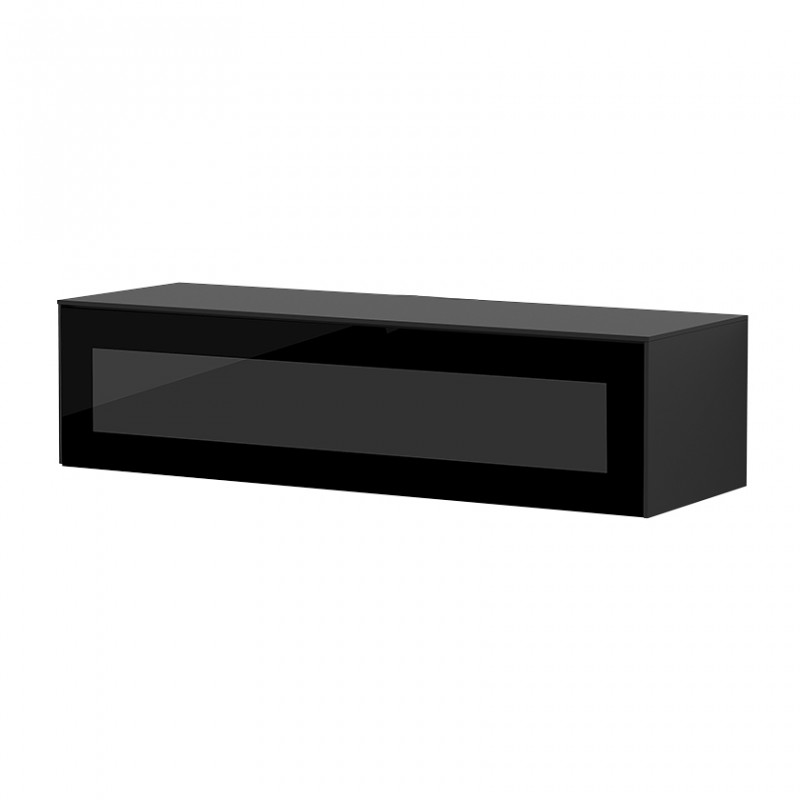 Meuble Tv Suspendu Noir Porte Infrarouge Sur Cdc Design