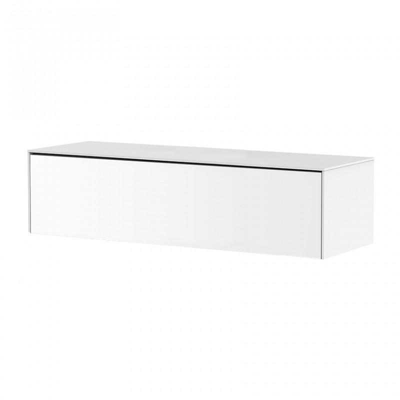 meuble tv suspendu blanc sur cdc design