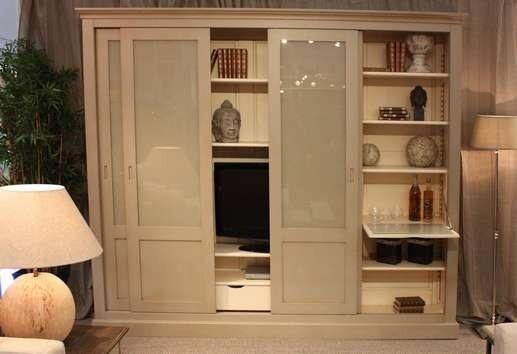 bibliotheque bar integre meubles