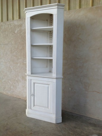 meuble d angle patine blanc montmajour