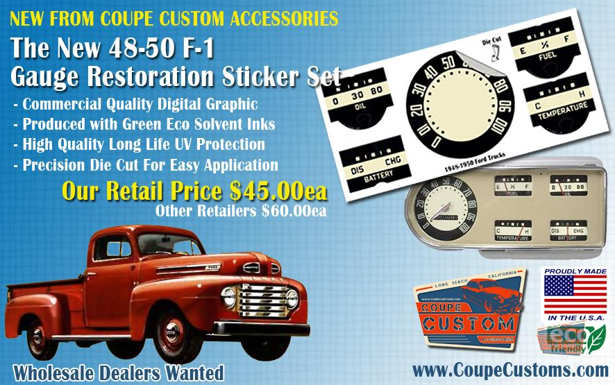 1948-50 Ford F-1 Gauge Resto Set