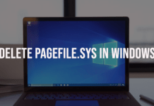 Delete pagefile.sys