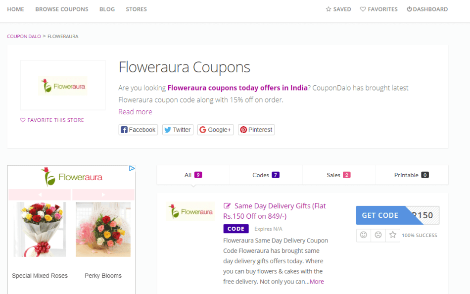 floweraura first time order coupons