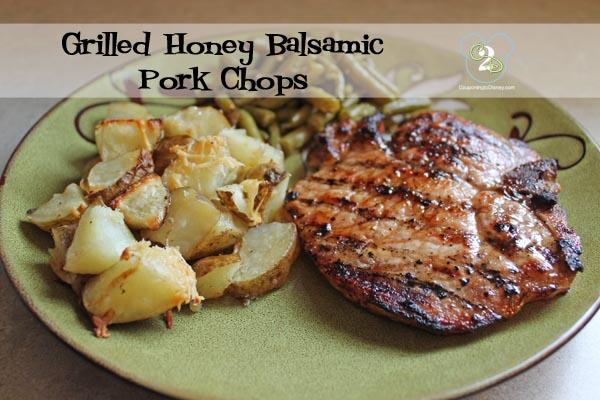 Grilled Honey Balsamic Pork Chops