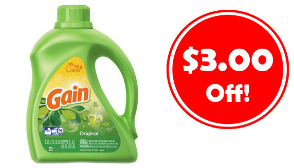 photo about Free Printable Gain Laundry Detergent Coupons identify $3 Off Profit Laundry Detergent Just take Coupon! - CouponMom Web site
