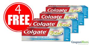 4 FREE Colgate Toothpastes
