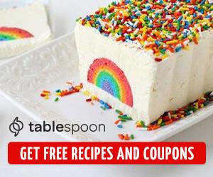 Tablespoon rainbow ice cream cake