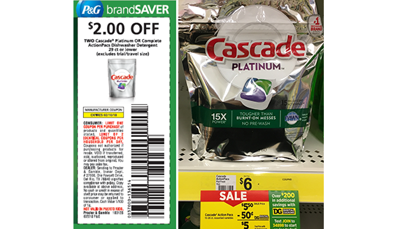 photo about Cascade Coupons Printable identified as Conserve Significant upon Cascade Detergent Currently!\