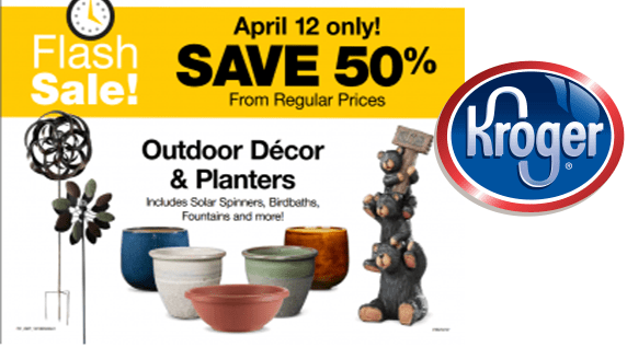 Kroger Flash Sale 50 Off Outdoor Decor Planters Couponmom Blog