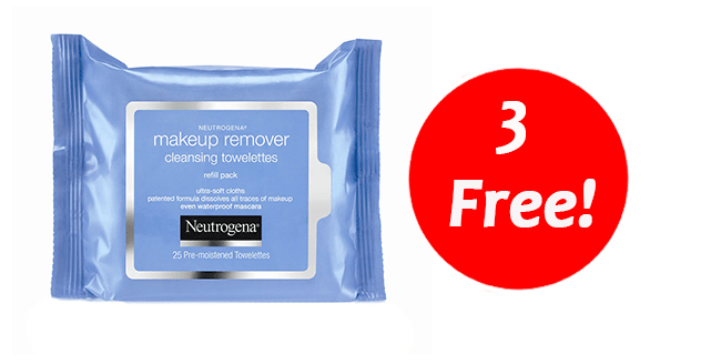 3 FREE Neutrogena Wipes–Print Coupons