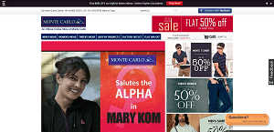 Online Shopping India Monte Carlo Discount Coupon