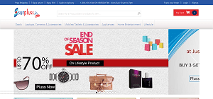 Surpluss.in Online Shopping Store Discount Coupon