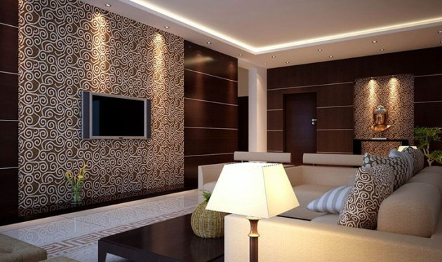 Wallpaper Ideas For Home   The Royale Wallpapers For Living Room  TheRoyaleIndia